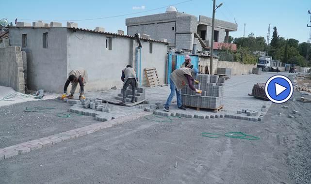 Haliliye'de sökülen beton parkeler yeniden değerlendiriliyor