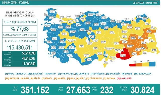 Türkiye aşının ikinci dozunda yüzde 77,5'i geçti